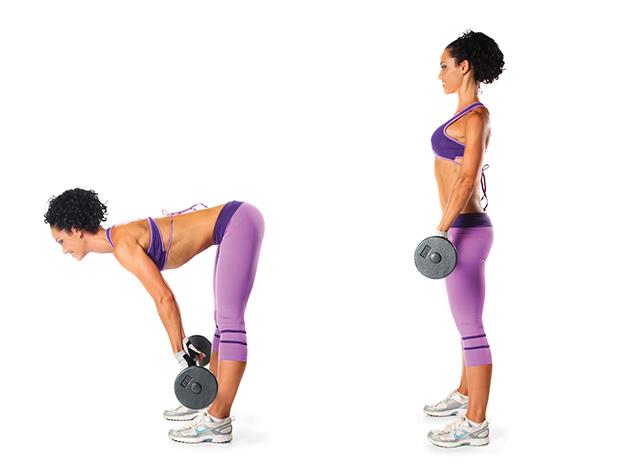 Barbell Workout - Stiff Legged Deadlift x 20