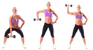 Squat and pull press